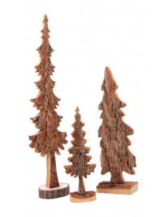 Set kerstbomen met bast
