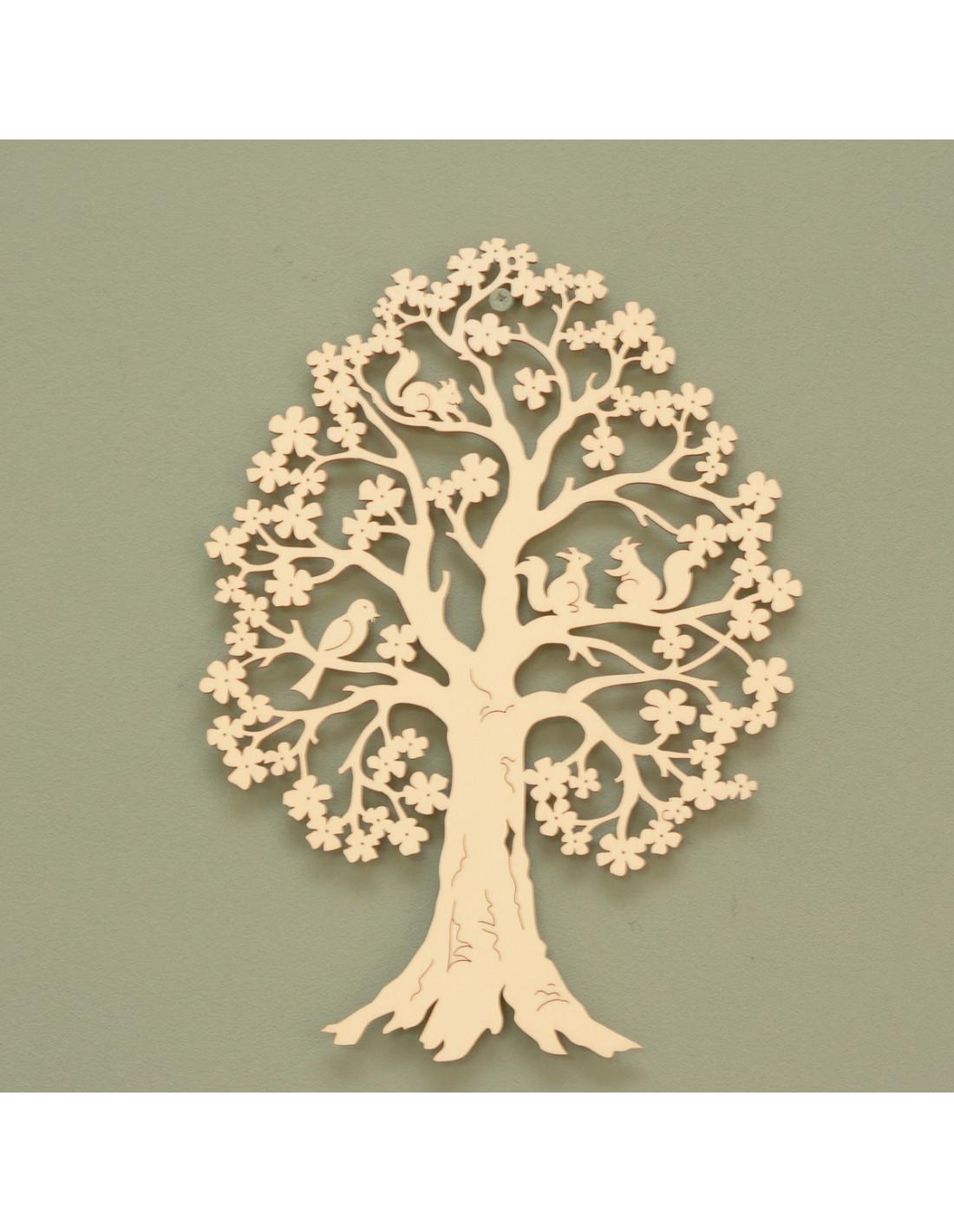 Houten boom met eekhoorntjes houten accessoires en meer for Houten decoratie boom