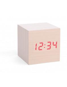 Wekker houten kubus
