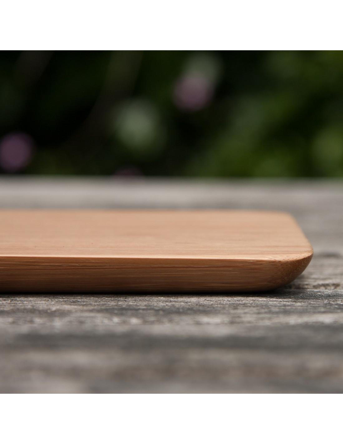 Kleine bamboe snijplank met afgeronde hoeken   Houten accessoires en meer