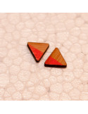 Oorbel driehoek roze