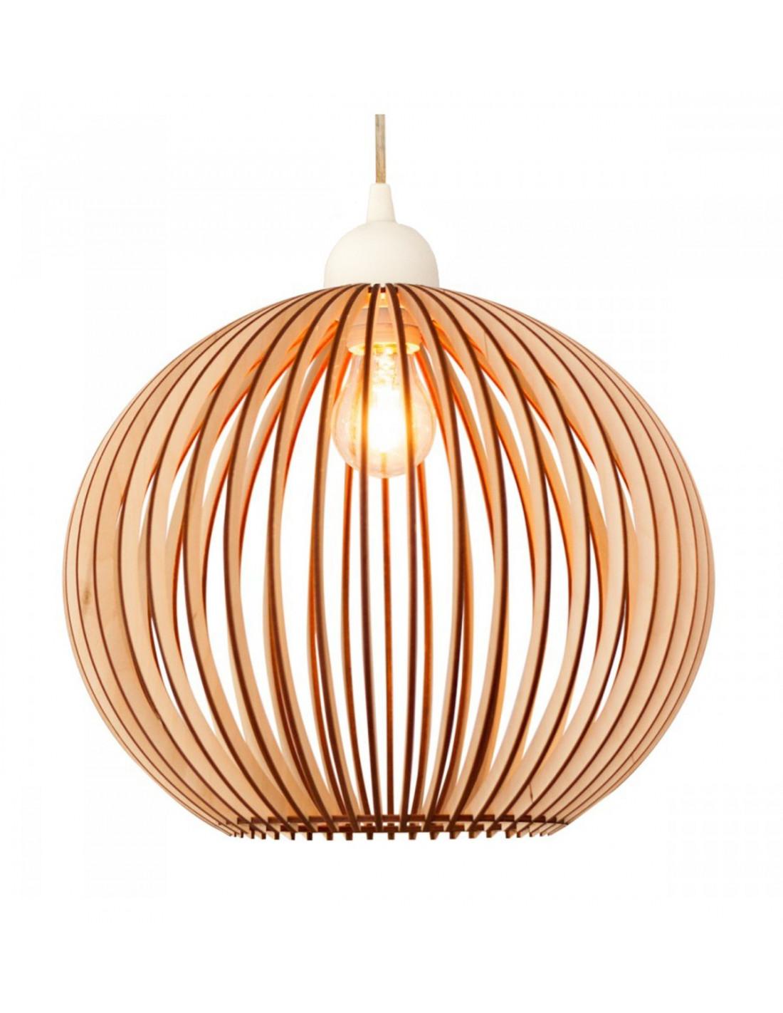 Houten bolle lampenkap houten accessoires en meer for Design lamp hout