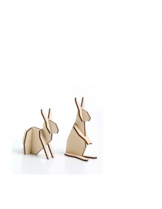 Mini konijnen hout