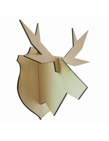 Houten elandkop groot