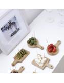 Mini serveerplankjes bamboe