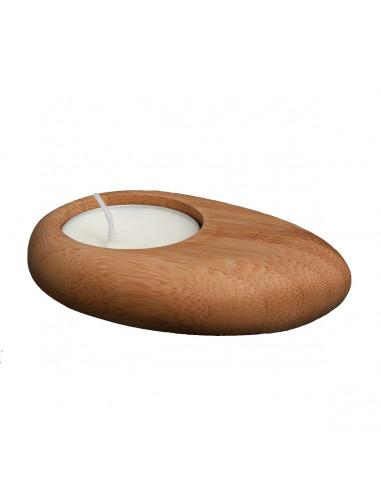 Bamboe waxinelichtje houder steen
