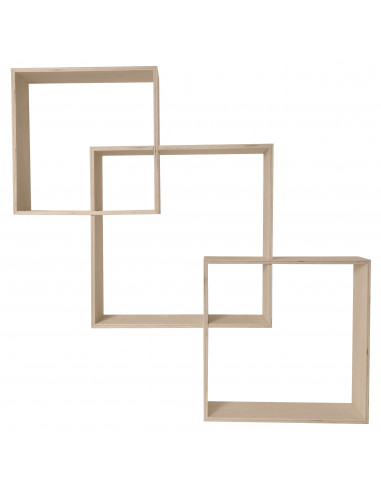 Wandkast geometrisch vierkant